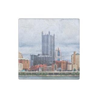 Pittsburgh PA Skyline Stone Magnet