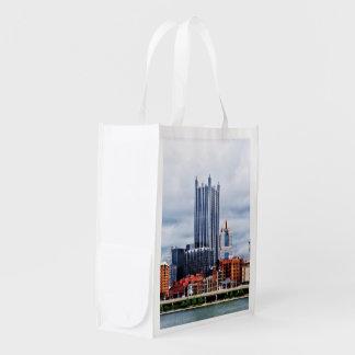 Pittsburgh PA Skyline Grocery Bag