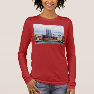 Pittsburgh PA Skyline Long Sleeve T-Shirt