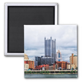 Pittsburgh PA Skyline 2 Inch Square Magnet