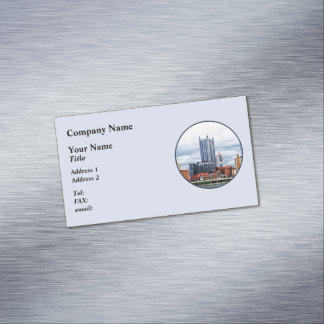 Pittsburgh PA Skyline Magnetic Business Card