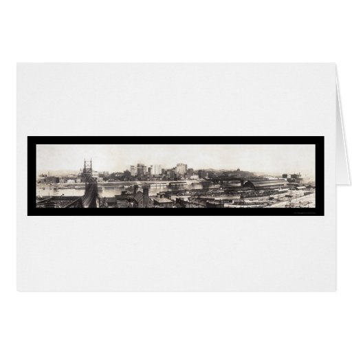 Pittsburgh, PA Skyline Photo 1907 Cards