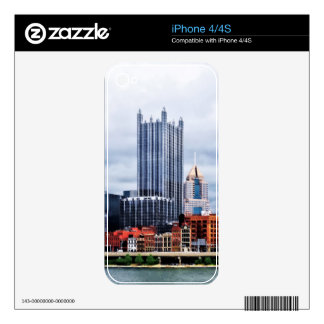 Pittsburgh PA Skyline Skin For iPhone 4S