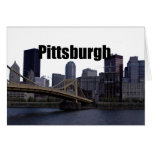 Pittsburgh PA Skyline with Pittsburgh in the Sky Greeting Card