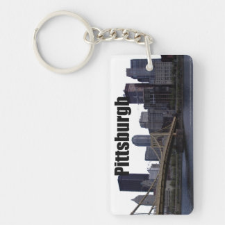 Pittsburgh PA Skyline with Pittsburgh in the Sky Keychain