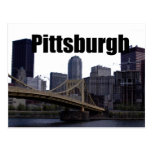 Pittsburgh PA Skyline with Pittsburgh in the Sky Post Cards
