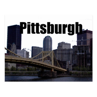 Pittsburgh PA Skyline with Pittsburgh in the Sky Postcard