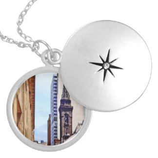 Pittsburgh PA  Smithfield St Near Smithfield Churh Silver Plated Necklace