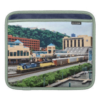 Pittsburgh PA - Train Going By Station Square iPad Sleeves