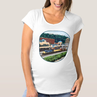 Pittsburgh PA - Train Going By Station Square Maternity T-Shirt