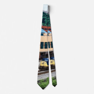 Pittsburgh PA - Train Going By Station Square Tie