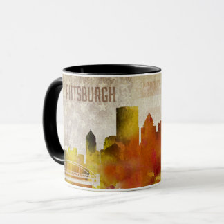 Pittsburgh, PA | Watercolor City Skyline Mug