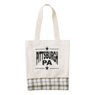 Pittsburgh PA Zazzle HEART Tote Bag