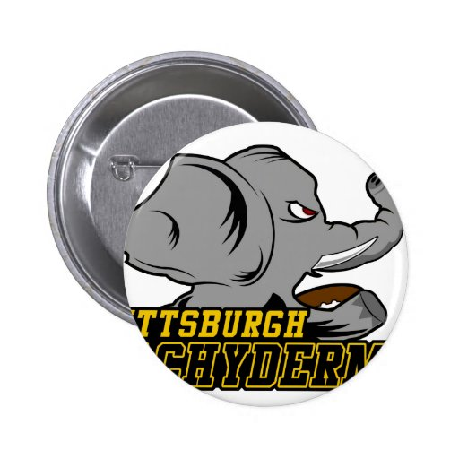 Pittsburgh Pachyderms Store 2 Inch Round Button