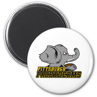Pittsburgh Pachyderms Store 2 Inch Round Magnet