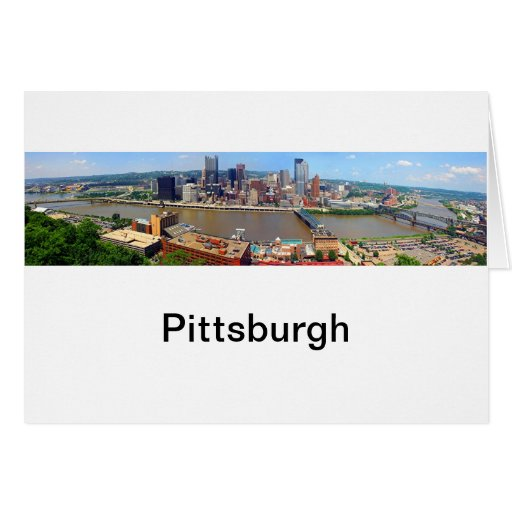 Pittsburgh Panoramic Note Card