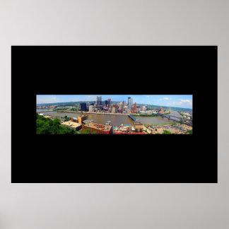 Pittsburgh panorámica poster
