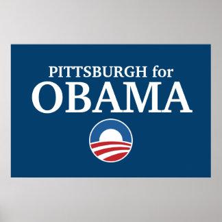 PITTSBURGH para el personalizado de Obama su ciuda Póster