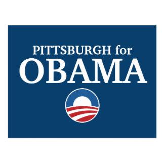 PITTSBURGH para el personalizado de Obama su Postales