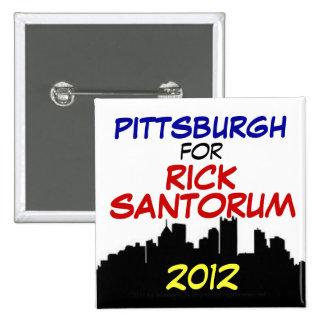 Pittsburgh para Santorum 2012 Pin Cuadrada 5 Cm