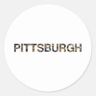 Pittsburgh Pegatinas Redondas