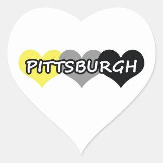 Pittsburgh Pegatina En Forma De Corazón