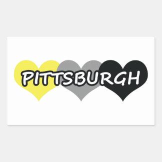 Pittsburgh Rectangular Pegatina