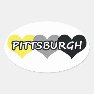Pittsburgh Pegatina Ovalada