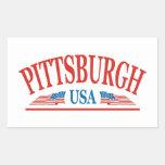 Pittsburgh Pegatina Rectangular