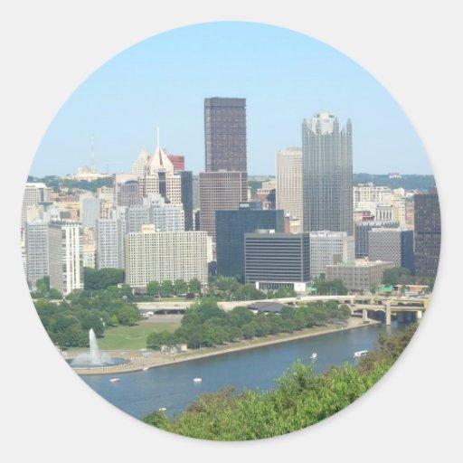 Pittsburgh Pegatina Redonda