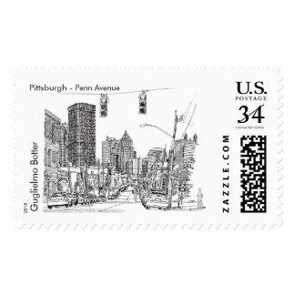 "Pittsburgh, ""Penn Avenue"" Postage"