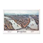 Pittsburgh Pennsylvania 1902 Canvas Print