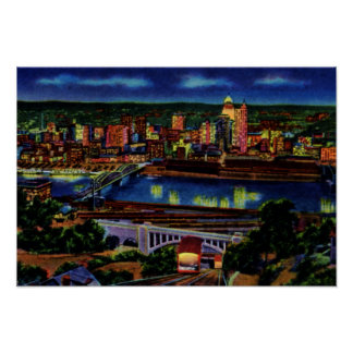 Pittsburgh Pennsylvania Castle Shannon Incline Poster
