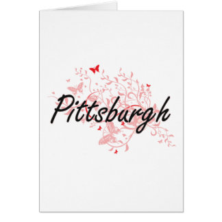 Pittsburgh Pennsylvania City Artistic design with Card