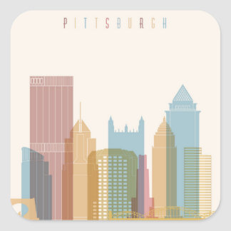 Pittsburgh, Pennsylvania | City Skyline Square Sticker