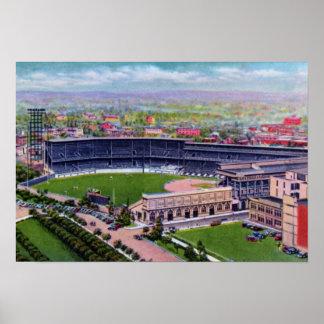 Pittsburgh Pennsylvania Forbes coloca el parque de Póster