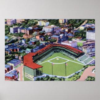 Pittsburgh Pennsylvania Forbes Field Baseball Park Poster