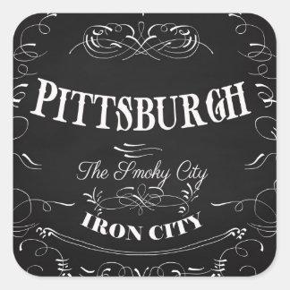 Pittsburgh Pennsylvania - la ciudad ahumada Pegatina Cuadrada