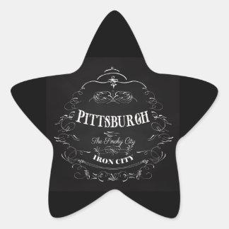 Pittsburgh Pennsylvania - la ciudad ahumada Pegatina En Forma De Estrella