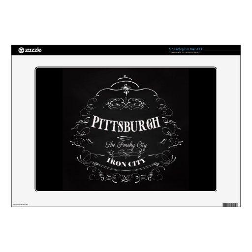 Pittsburgh Pennsylvania - la ciudad ahumada Portátil Calcomanías