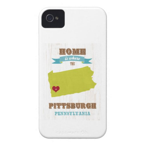 Pittsburgh, Pennsylvania Map – Home Is Where iPhone 4 Covers