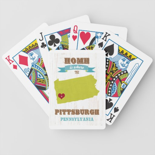Pittsburgh, Pennsylvania Map – Home Is Where Playing Cards