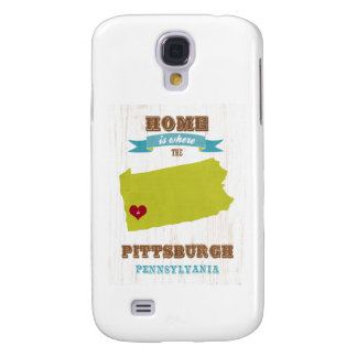 Pittsburgh, Pennsylvania Map – Home Is Where Samsung S4 Case