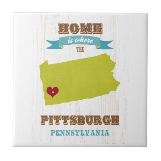 Pittsburgh, Pennsylvania Map – Home Is Where Small Square Tile