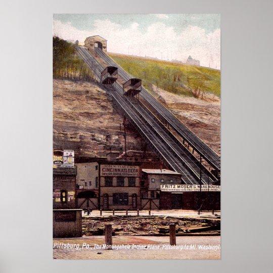 Pittsburgh Pennsylvania Monangahela Incline Plane Poster