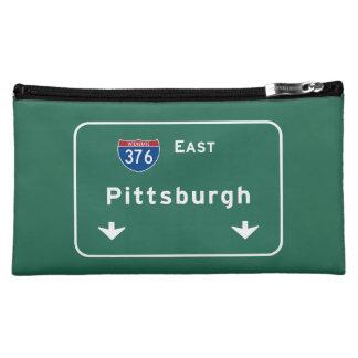 Pittsburgh Pennsylvania pa Interstate Highway : Cosmetic Bag