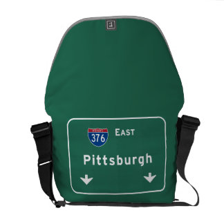 Pittsburgh Pennsylvania pa Interstate Highway : Courier Bag