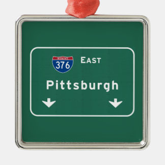 Pittsburgh Pennsylvania pa Interstate Highway : Metal Ornament