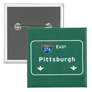 Pittsburgh Pennsylvania pa Interstate Highway : Pinback Button