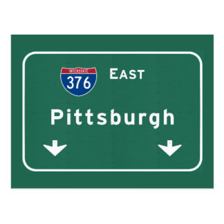 Pittsburgh Pennsylvania pa Interstate Highway : Postcard